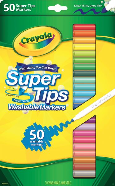 Crayola Super Tips Washable Marker 50-Color Set