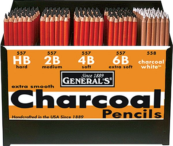 General's® Charcoal Pencil Display