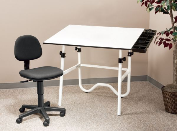 Alvin CC Series Creative Center White Or Black Base With Office Chair