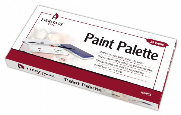 "Heritage Arts™ Paint Palette 33 Wells: Cover, Plastic, 363 Wells, Rectangle, 6 1/4"" x 12 1/2"""
