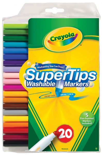 Crayola Super Tips Washable Marker 20-Color Set