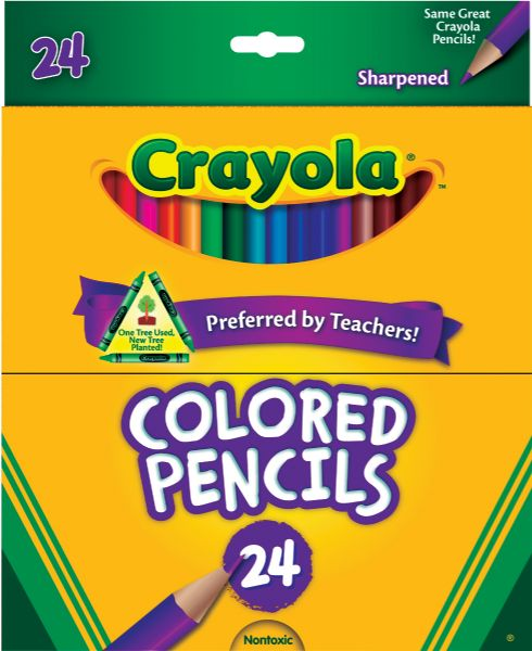 Crayola Long Colored Pencil 24-Color Set