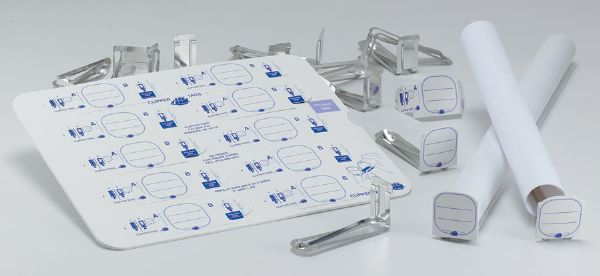 "Clipper Tags® Labeling System With 50 Tags And 1-5/8"" Clips"