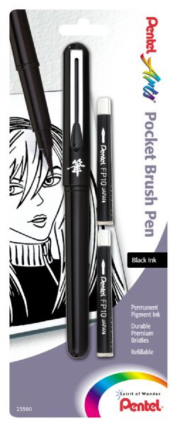 Pentel Pocket Brush Pen Black