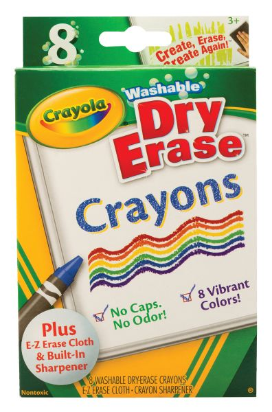 Crayola Washable Dry Erase Crayon 8-Color Set