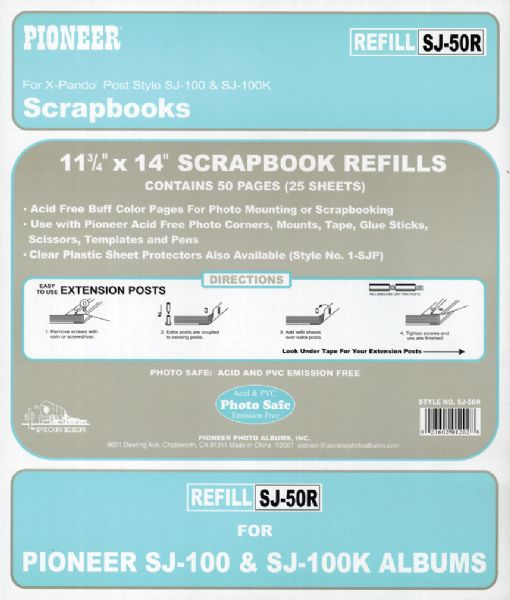Pioneer Jumbo Scrapbook Buff Refill Pages