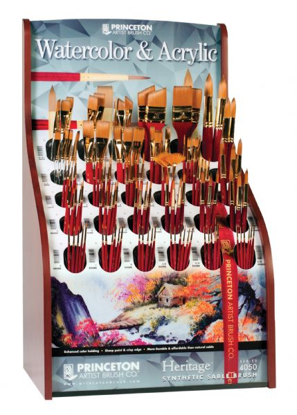 Princeton Best Synthetic Sable Watercolor And Acrylic Brush Display
