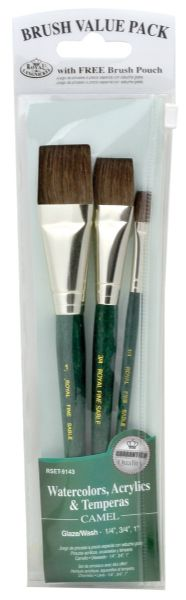 Royal & Langnickel 9100 Series Green 3-Piece Brush Set 4
