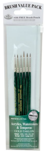 Royal & Langnickel 9100 Series Green 6-Piece Brush Set 1