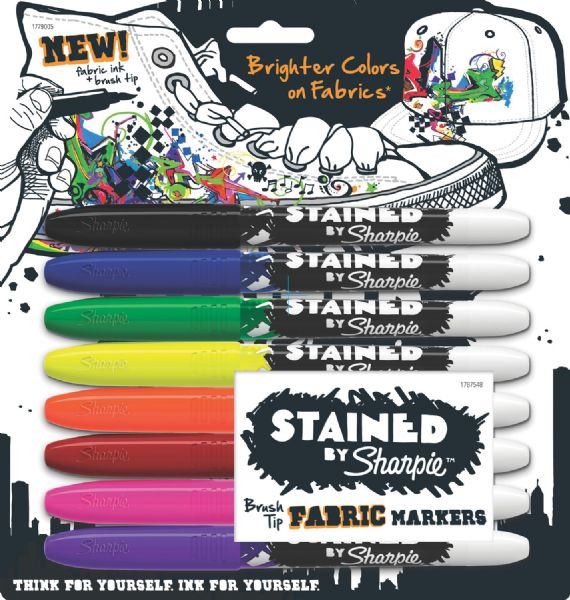 Stained™ By Sharpie® Fabric Marker 8-Color Set