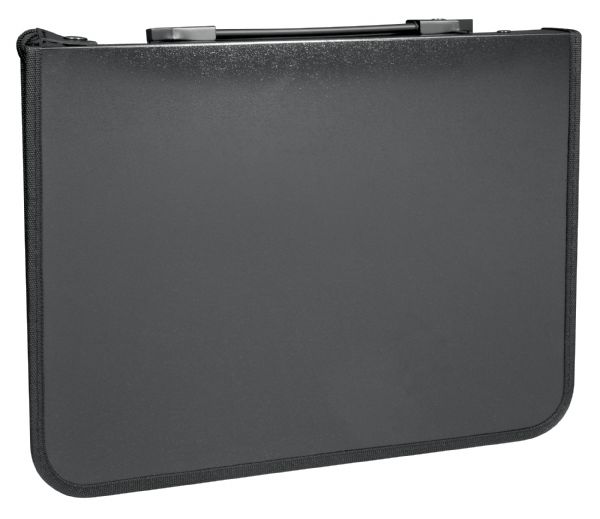 "Prestige™ Studio™ Series Presentation Case 8.5"" x 11"": Black/Gray, Polypropylene, 10 Pages, 10 Protective Sleeves, 8 1/2"" x 11"""