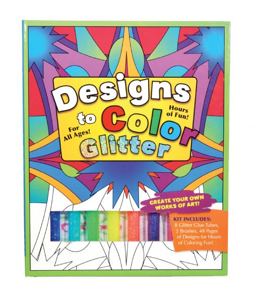 Flying Frog Designs To Color Glitter Glue Original Activity Book