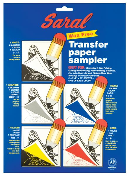"Saral 8.5"" X 11"" Wax-Free Transfer Paper Sampler"