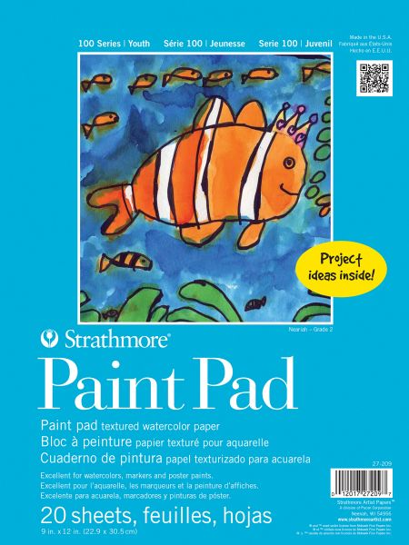 "Strathmore 100 Series 9"" X 12"" Tape Bound Paint Pad"