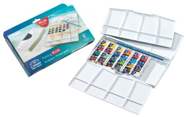 Winsor & Newton Cotman™ Watercolor Painting Plus 24-Color Set