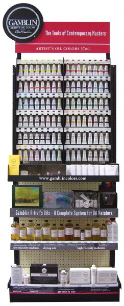Gamblin Artists' Grade 37ml Oil Paint Full Display Assortment