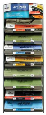 Canson Montval® Art Pad Assortment And Display