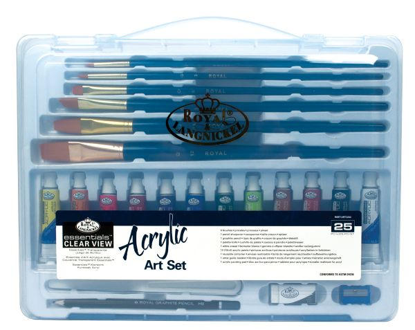 Royal & Langnickel Essentials™ Clear View Acrylic Painting Set