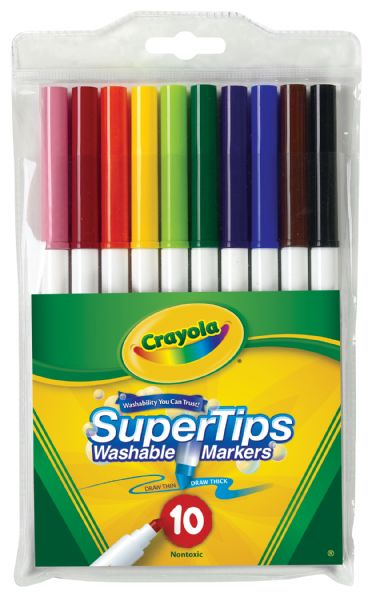 Crayola Super Tips Washable 10-Marker Set