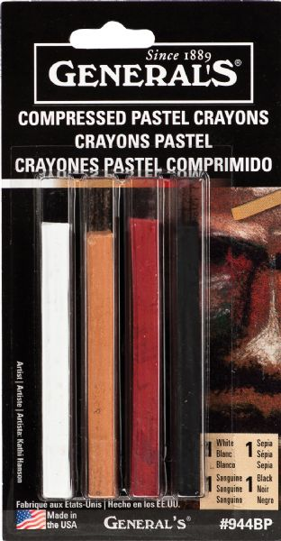 General's® Compressed Pastel Crayon Set