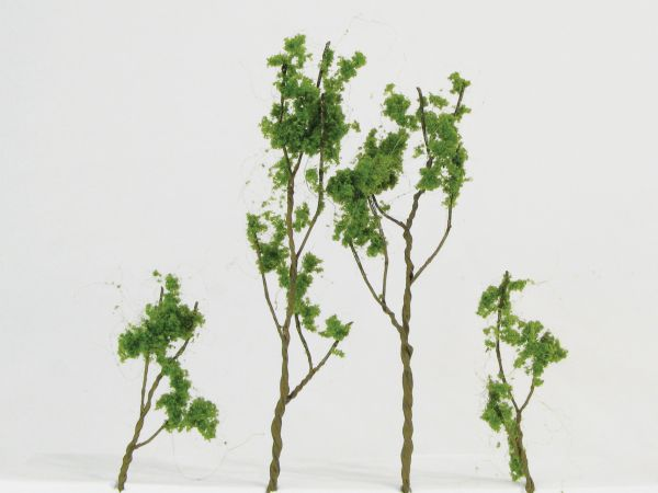 Wee Scapes Architectural Model Foliage Tree Light Green 24-pack