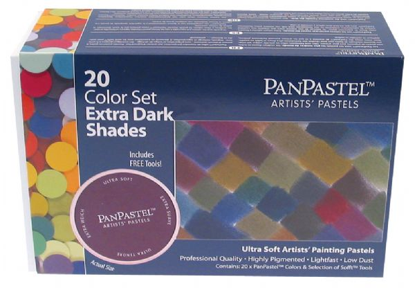 PanPastel Ultra Soft Painting Pastels Extra Dark Shade 20-Set