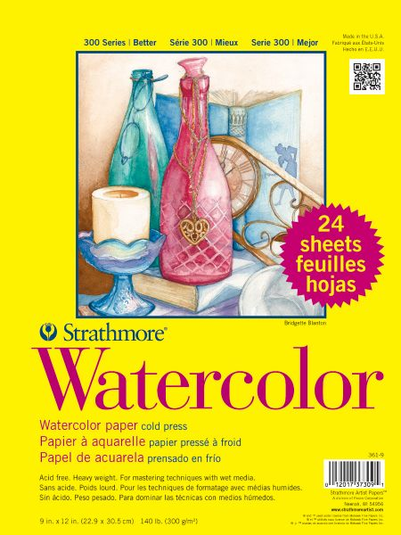 "Strathmore 300 Series 9"" X 12"" Cold Press Shrinkwrapped Watercolor Class Pack"