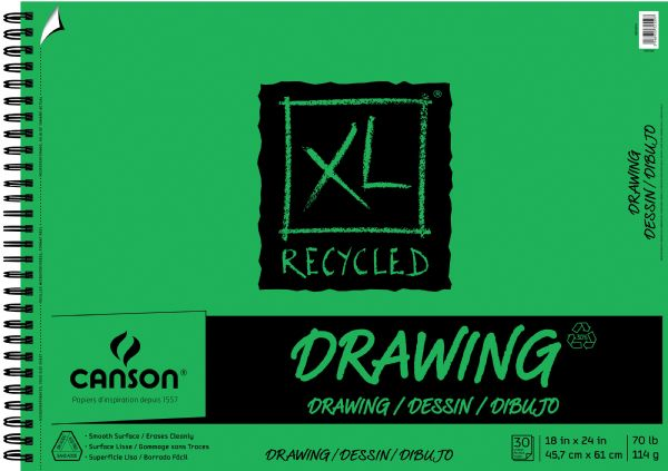 "Canson XL® 18"" X 24"" Recycled Drawing Pad (Side Wire)"