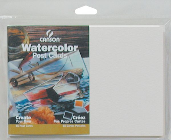 "Canson Montval® 5"" X 7"" Watercolor Cold Press Blank Postcards 140 Lb/300g"