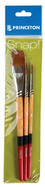 Princeton Snap! Golden Taklon Brush Set Round 4 And 6, Stroke 3/4