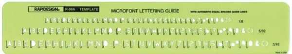 Rapidesign Microfont Guide Template