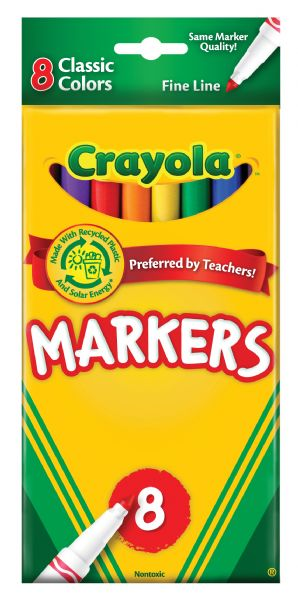 Crayola Fine Line 8-Color Marker Set