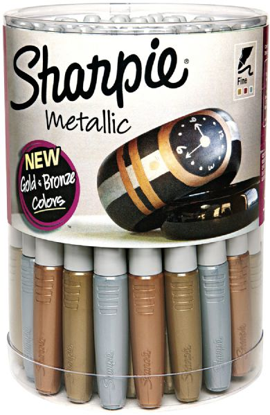 Sharpie Fine Point Metallic 36-Piece Canister Display