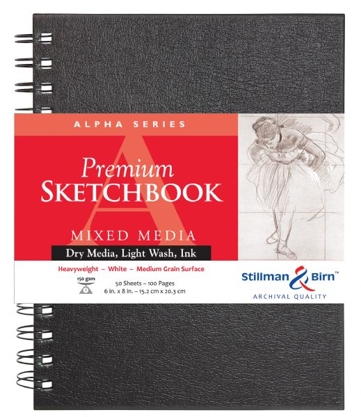 "Stillman & Birn™ Alpha Series 6"" X 8"" Wirebound Sketchbook"