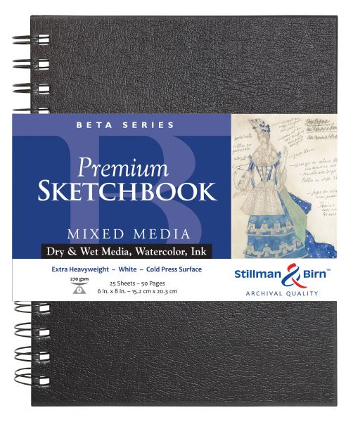 "Stillman & Birn™ Beta Series 6"" X 8"" Wirebound Sketchbook"
