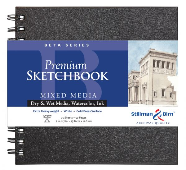 "Stillman & Birn™ Beta Series 7"" X 7"" Wirebound Sketchbook"