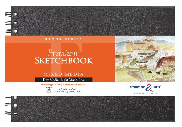 "Stillman & Birn™ Gamma Series 10"" X 7"" Wirebound Sketchbook"