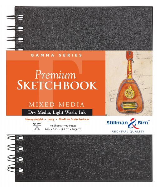 "Stillman & Birn™ Gamma Series 6"" X 8"" Wirebound Sketchbook"