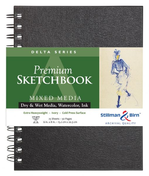 "Stillman & Birn™ Delta Series 6"" X 8"" Wirebound Sketchbook"
