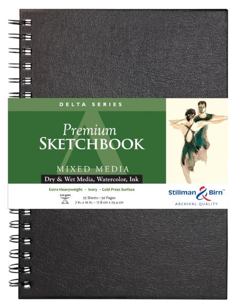 "Stillman & Birn™ Delta Series 7"" X 10"" Wirebound Sketchbook"