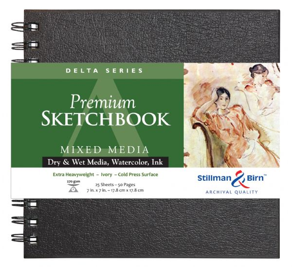 "Stillman & Birn™ Delta Series 7"" X 7"" Wirebound Sketchbook"