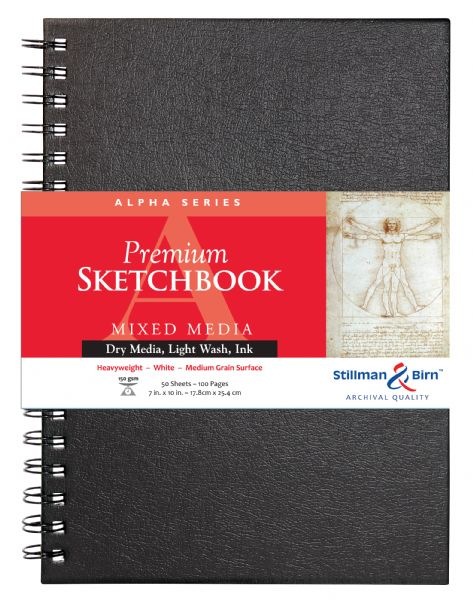 "Stillman & Birn™ Alpha Series 7"" X 10"" Wirebound Sketchbook"