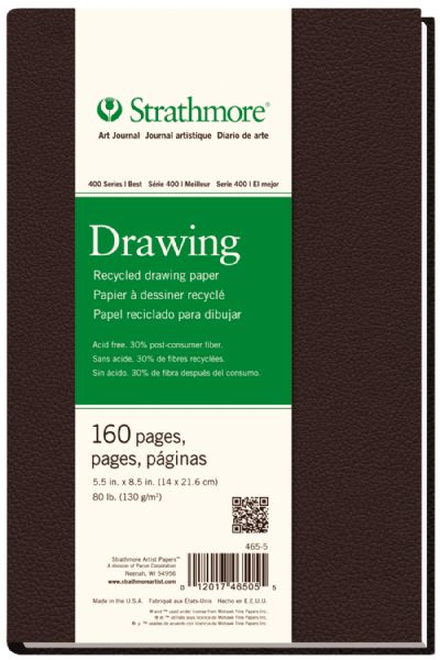 "Strathmore 400 Series 5 1/2"" X 8 1/2"" Sewn Bound Recycled Drawing Art Journal"