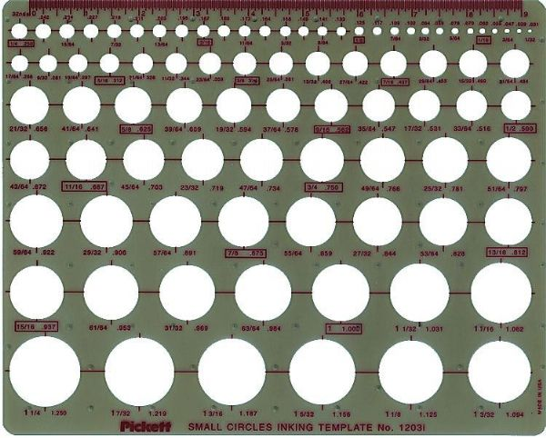Pickett Small Circles Template