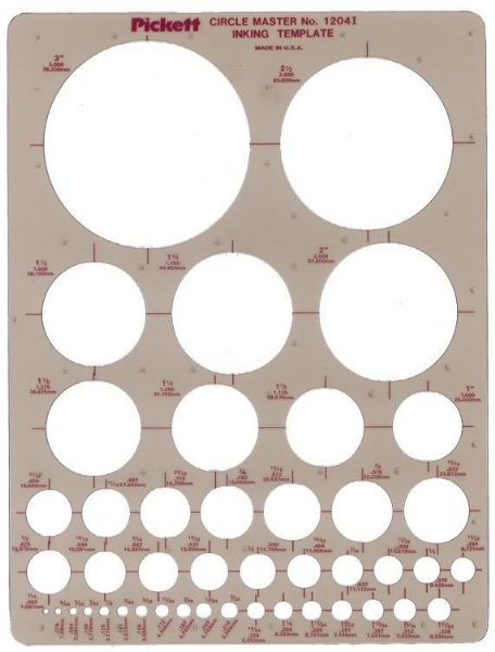 Pickett Circle Master Template
