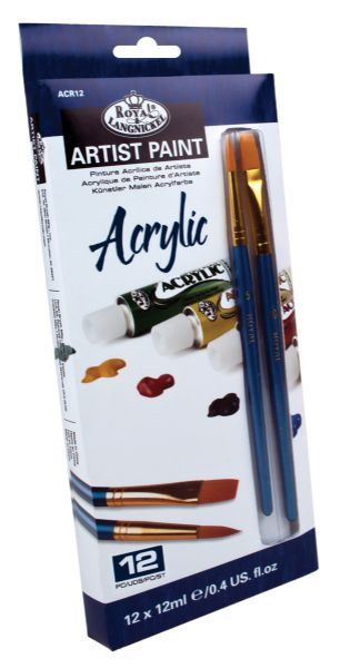 Royal & Langnickel 12-Color Acrylic Paint Sets