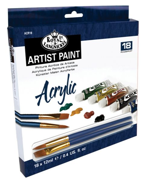 Royal & Langnickel 12ml Acrylic Paint 18-Color Set