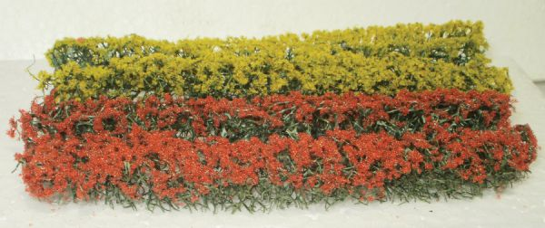 Wee Scapes Architectural Model Red & Yellow Flowering Hedges