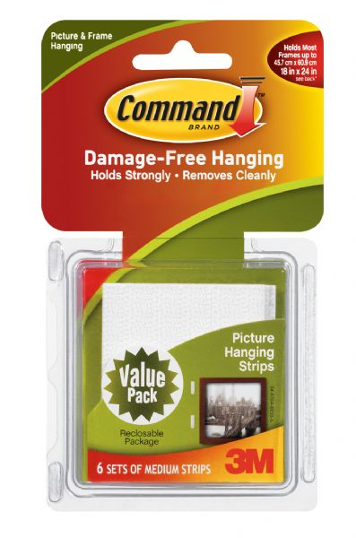 Command White Medium Hanging Strips Value Pack