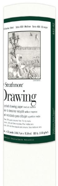 "Strathmore 400 Series 42"" X 10 Yard Recycled Drawing Paper Roll"